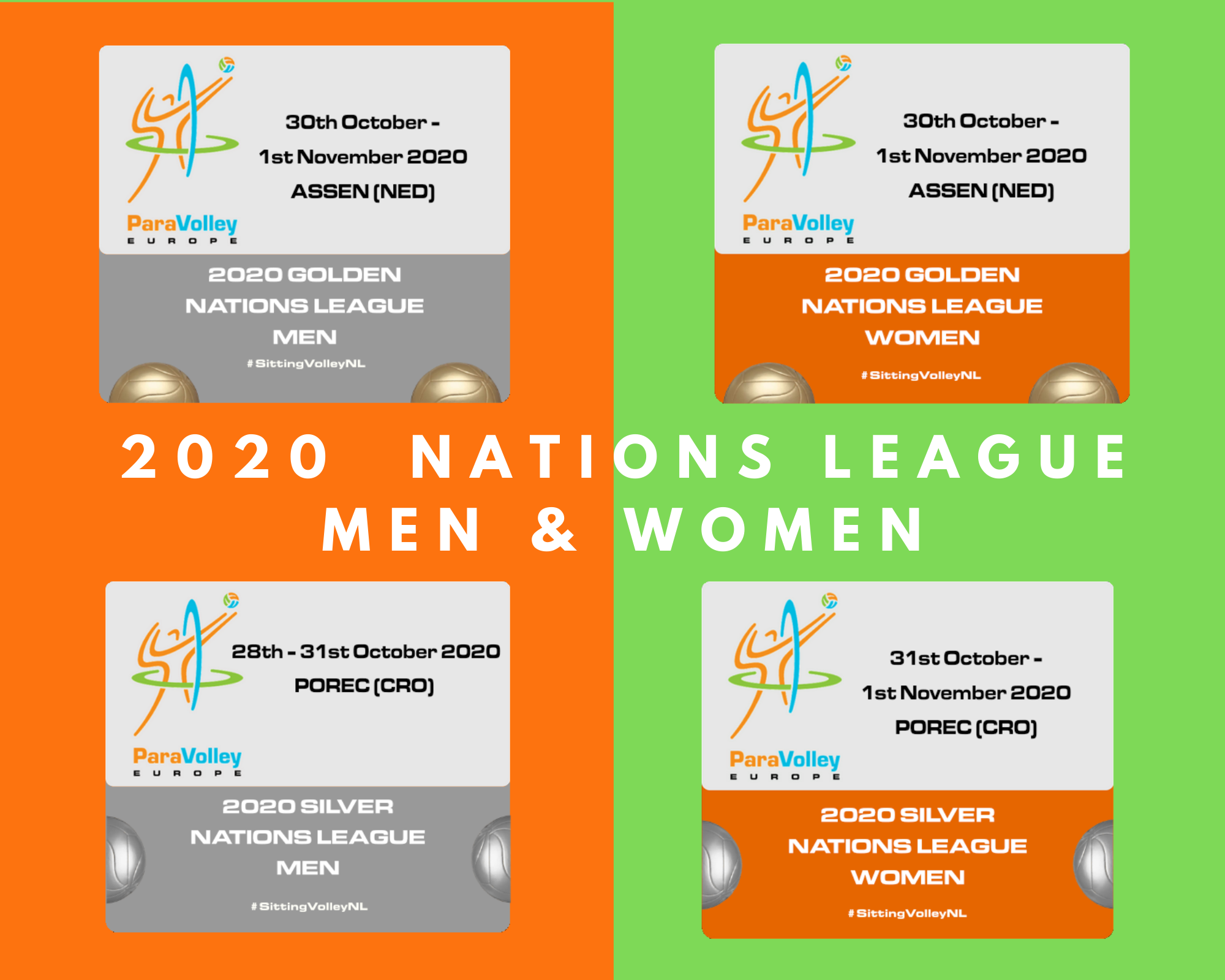 Nations League Competition Dates Paravolley Europe